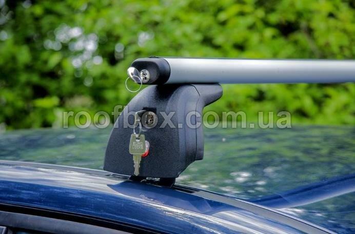 Фото - Алюминиевый аэродинамический багажник AMOS Beta с замками, готовый к применению