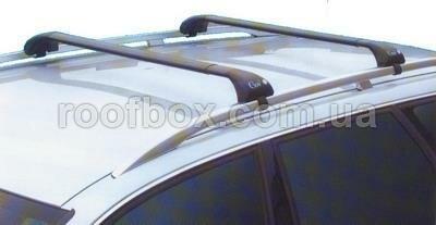 Фото - Автобагажник на крышу GeV стальной с аэродинамическим профилем под рейлинг