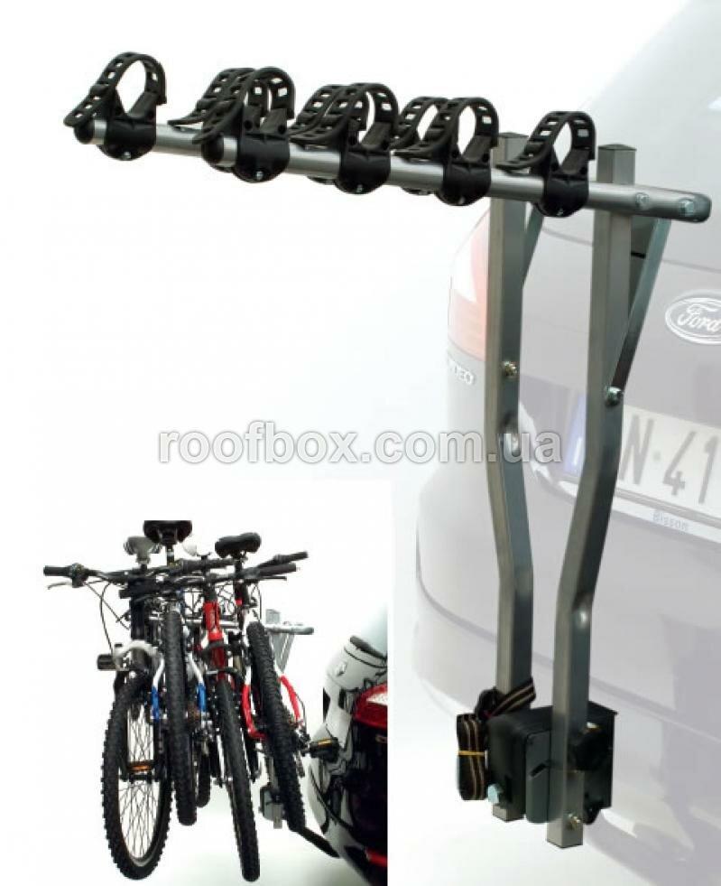 Велосипедное крепление на фаркоп Peruzzo Arezzo стальное для четырех велосипедов